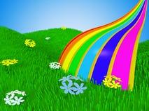 De regenboog van het beeldverhaal Royalty-vrije Stock Afbeelding