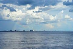 De regenboog van het de baaistrand van Tamper Royalty-vrije Stock Foto