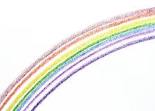 De Regenboog van het kleurpotlood Stock Afbeeldingen