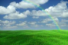 De Regenboog van het landschap Stock Foto's