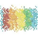 De regenboog van het mozaïek Stock Foto