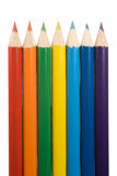 De regenboog van het potlood stock foto