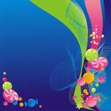 De regenboog van het suikergoed Stock Afbeeldingen