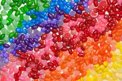 De regenboog van het suikergoed Stock Fotografie
