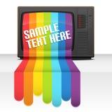 De regenboog van TV Stock Afbeelding