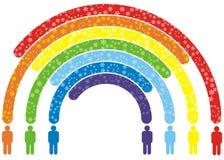 De regenboog van volkeren Stock Foto's