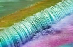 De Regenboog van watervallen stock afbeeldingen