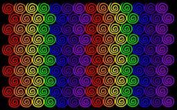 De regenboog wervelt Patroon stock afbeeldingen