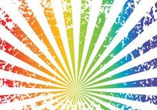 De regenboogachtergrond van Grunge vector illustratie