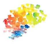 De regenboogachtergrond van Watercolour Stock Foto's