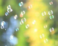 De regenboogbellen Stock Foto