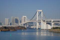 De regenboogbrug in Tokyo, Japan Stock Afbeelding