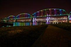 De Regenboogbrug van Louisville Royalty-vrije Stock Afbeelding