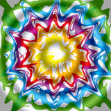 De regenboogkleuren van golven Royalty-vrije Stock Foto's
