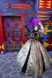 De regenboogkus van Burano Royalty-vrije Stock Foto's