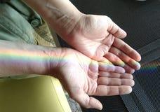 De regenbooglooppas door mijn aders Hoogste mening stock fotografie