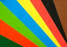 De regenboogventilator van het document Stock Afbeelding