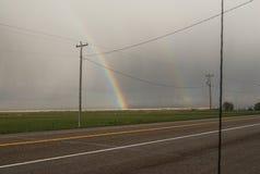 De regenboogweg Stock Foto