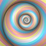 De regenboogwerveling van de pastelkleur Stock Foto