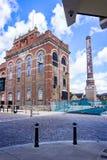 De regeneratie van het stadscentrum van Eldridge Pope Brewery Site Dorchester stock fotografie
