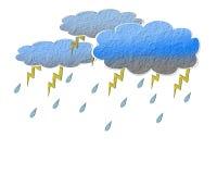 De regenwolk van het document. Stock Afbeelding