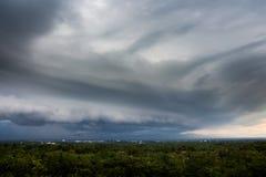 de Regenwolken van de donder strom hemel Royalty-vrije Stock Fotografie