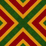 De Reggaekleuren haken gebreide stijlachtergrond, hoogste mening Collage met spiegelbezinning Naadloze caleidoscoopmontering Stock Afbeeldingen