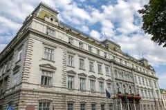 De regionale het beleidsbouw van de staat in Lviv, de Oekraïne stock foto's