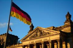 De Reichstagbouw Stock Afbeeldingen