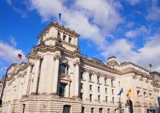 De Reichstagbouw, Duits het parlementshuis Berlijn, Duitsland Royalty-vrije Stock Foto's