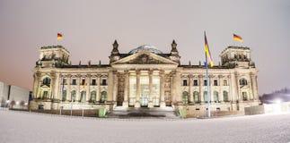 De Reichstagwinter Royalty-vrije Stock Afbeelding