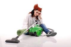 De reinigingsmachine van het meisje. Royalty-vrije Stock Fotografie