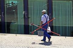 De reinigingsmachine van het venster Royalty-vrije Stock Foto