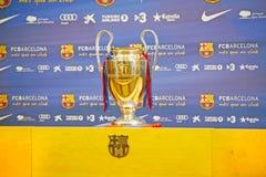 De Reis 2012 van de Trofee van UEFA Champions League stock afbeelding
