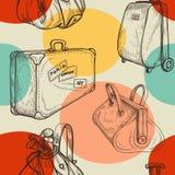 De reis doet naadloos patroon in zakken Royalty-vrije Stock Afbeeldingen