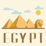 De reis en het oriëntatiepunt van Egypte concepten vectorillustratie Royalty-vrije Stock Afbeelding