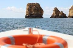 De reis op de boot stock foto