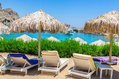 De reis 2015, Rhodos-eiland, Lindos van Griekenland Royalty-vrije Stock Afbeeldingen