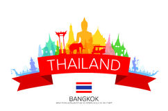 De Reis van Bangkok Thailand Royalty-vrije Stock Afbeeldingen