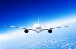 De Reis van bedrijfs vliegtuigvliegtuigen Vervoersconcept Stock Foto