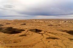 De reis van de Aravawoestijn in Israël bij avond Royalty-vrije Stock Foto's