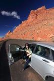 De reis van de auto Stock Afbeeldingen