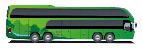De reis van de bus Stock Foto's