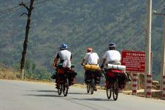 De reis van de fiets Stock Foto's