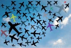 De reis van de lucht Stock Afbeeldingen