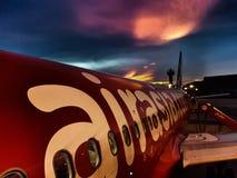 De reis van de luchtvaartvliegtuigen van luchtazië Stock Afbeelding