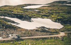 De Reis van de Motorcoachrv Weg royalty-vrije stock afbeelding