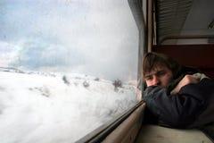 De reis van de spoorweg Royalty-vrije Stock Foto's