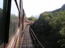De reis van de trein Stock Foto