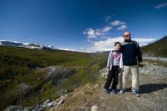 De reis van de vader en van de zoon Royalty-vrije Stock Foto's